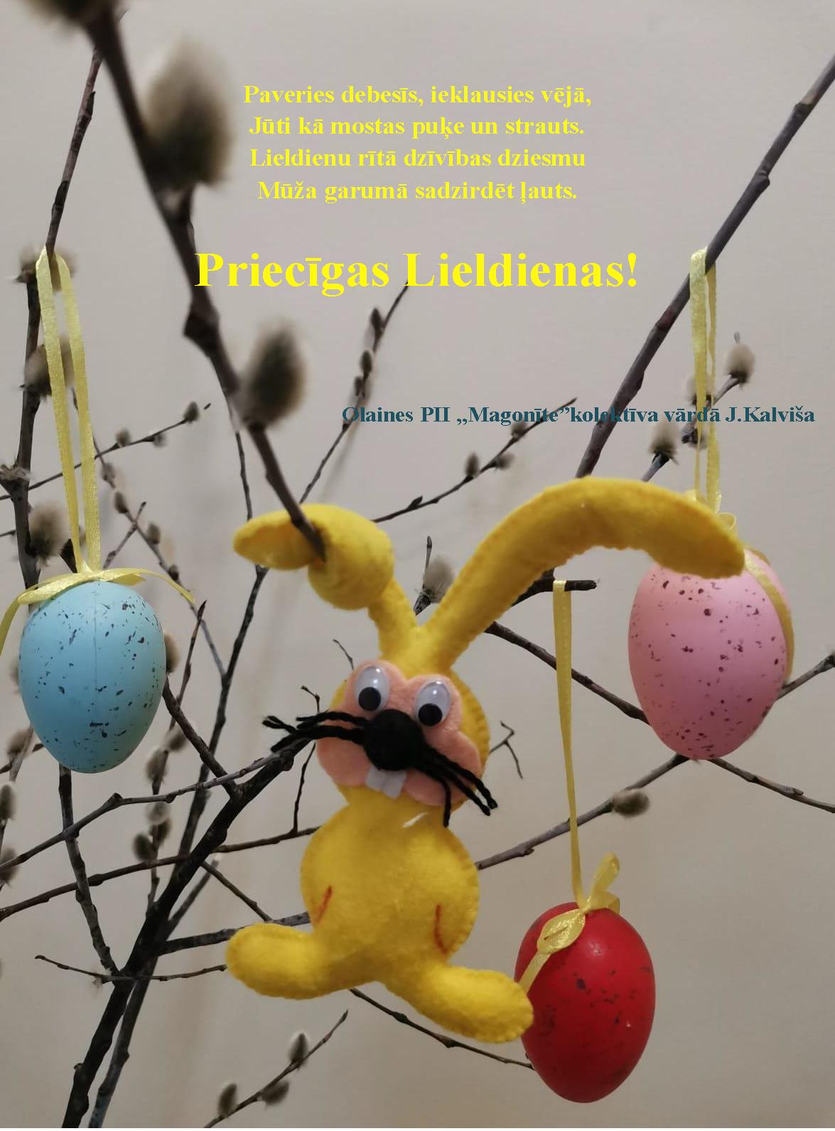 Piecīgas un saulainas Lieldienas!